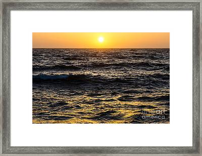 Pacific Reflection Framed Print by CML Brown