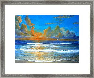 Pacific Reflections Framed Print by Keith Wilkie