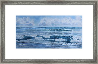 Pacific Rhythms  Framed Print by Jenny Armitage