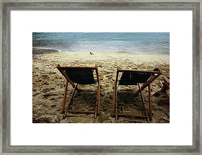 Pacific Seaside For Two Framed Print by ARTography by Pamela Smale Williams
