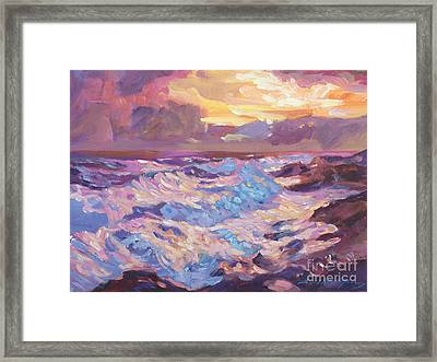 Pacific Shores Sunset Framed Print by David Lloyd Glover
