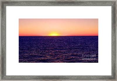 Pacific Sunset Off Laguna Beach Framed Print by Bob and Nadine Johnston