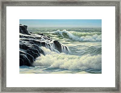 Pacific Surf Framed Print by Paul Krapf