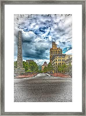 Pack Square Framed Print by John Haldane