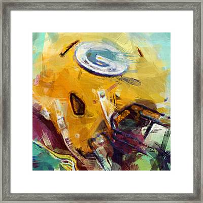 Packers Art Abstract Framed Print by David G Paul