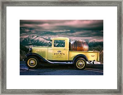 Packs Tavern Truck Framed Print by John Haldane