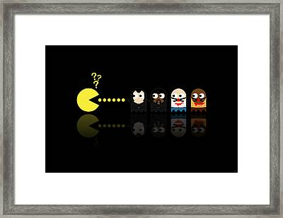 Pacman Pulp Fiction Framed Print by NicoWriter