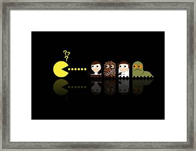 Pacman Star Wars - 4 Framed Print by NicoWriter