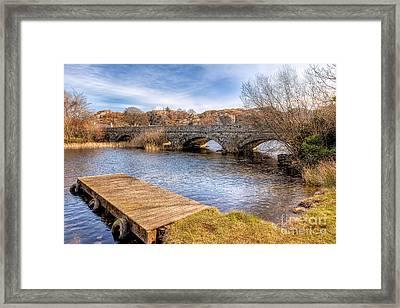 Padarn Bridge Framed Print by Adrian Evans