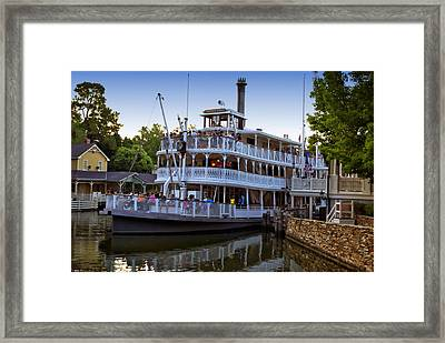 Paddle Boat At Twilight Walt Disney World Framed Print by Thomas Woolworth