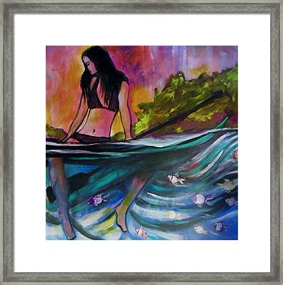 Paddle Love Framed Print by Kimberly Dawn Clayton