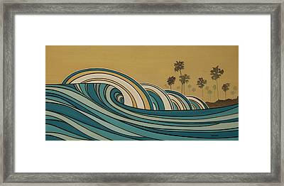 Paddle Out Framed Print by Joe Vickers