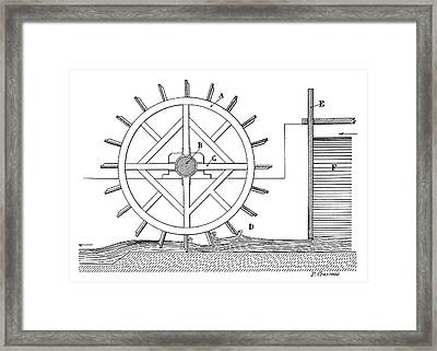 Paddle Water Wheel Framed Print by Science Photo Library