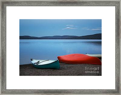 Paddle's End Framed Print by Barbara McMahon
