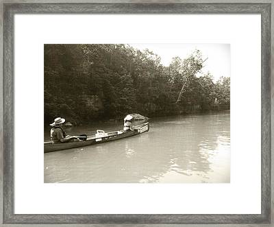 Paddling On The Current Framed Print by Marty Koch
