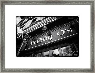 Paddy O's Framed Print by John Rizzuto