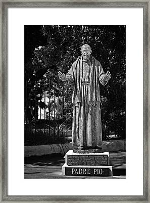 Padre Pio - St Louis Cemetery No3 New Orleans Framed Print by Christine Till