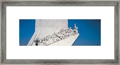 Padro Dos Descobrimentos Lisbon Portugal Framed Print by Panoramic Images