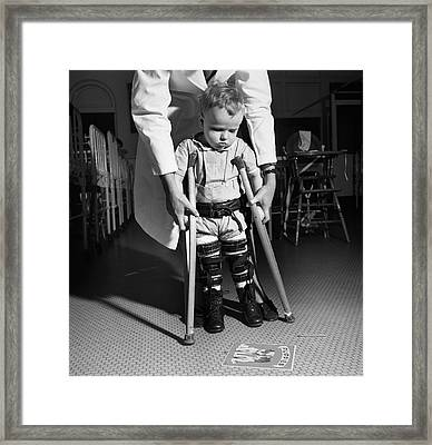 Paediatric Physical Therapy Framed Print by Library Of Congress
