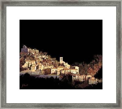 Paesaggio Scuro Framed Print by Guido Borelli