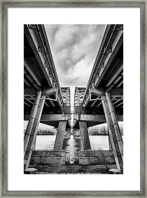 Page Bridge Geometry Framed Print by Bill Tiepelman