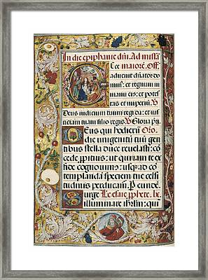 Page With Miniature Depicting Framed Print by Everett
