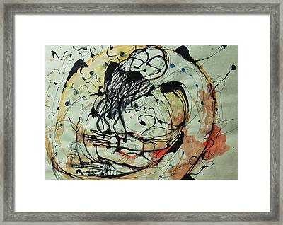 Digital Manipulation Framed Print featuring the drawing Pain Erupts Everywhere Original by Mark M  Mellon
