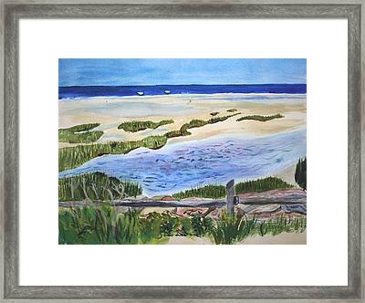 Paines Creeek Is A Wonderful Beach On Cape Cod Bay In The Town Of Brewster Ma. Framed Print by Donna Walsh