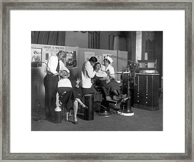 Painless Modern Dentistry Framed Print by Underwood Archives