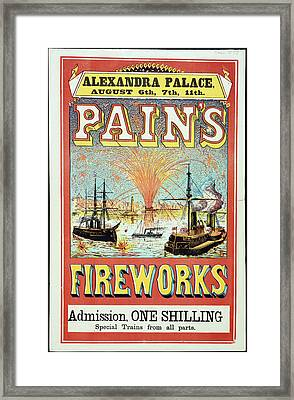 Pain's Fireworks Framed Print by British Library