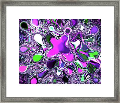 Paint Ball Color Explosion Purple Framed Print by Andee Design