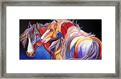 Paint Horse Colorful Spirits Framed Print by Jennifer Godshalk