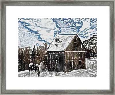 Paint Horse Framed Print by Dennis Buckman