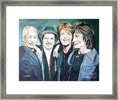 Paint It Black Framed Print by Judy Kay
