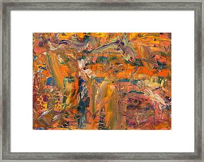 Paint Number 45 Framed Print by James W Johnson