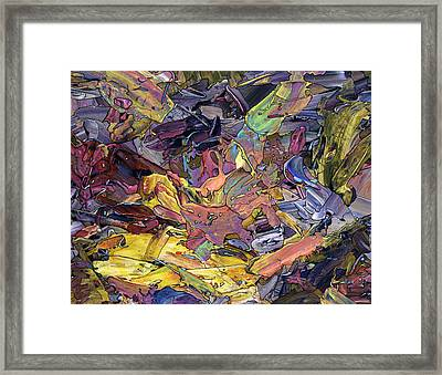 Paint Number 60 Framed Print by James W Johnson