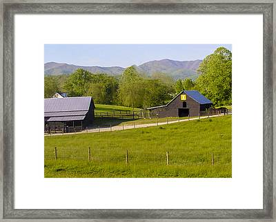 Painted Barn Quilt Two And A Half Framed Print by Robert J Andler