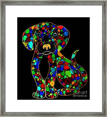 Painted Black Dog Framed Print by Nick Gustafson