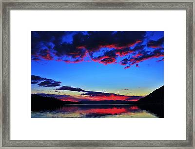 Painted Clouds Framed Print by Benjamin Yeager