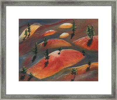 Painted Dunes Framed Print by Anastasiya Malakhova