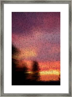 Painted Evening Framed Print by Kevin Bone