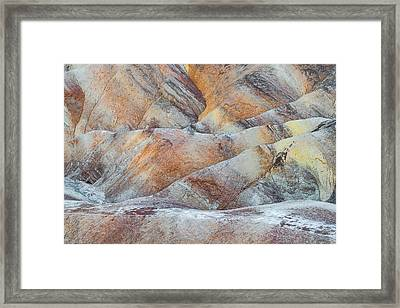 Painted Hills In Death Valley Framed Print by Larry Marshall