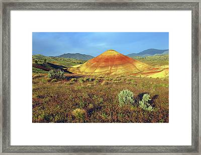 Painted Hills, John Day Fossil Beds Framed Print by Michel Hersen