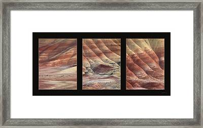 Painted Hills Triptych Framed Print by Leland D Howard