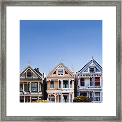 Painted Ladies Framed Print by Dave Bowman