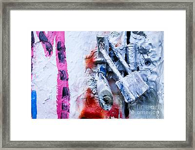 Painted Locks And Graffiti Framed Print by Amy Cicconi