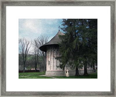 Painted Monastery Framed Print by Jeff Kolker