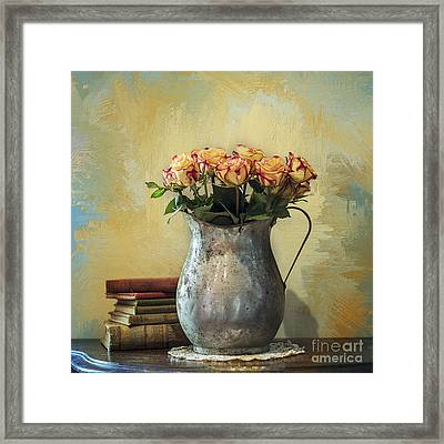 Painted Roses Framed Print by Terry Rowe