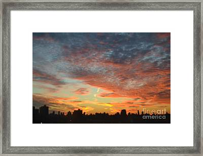 Painted Sky Framed Print by Robert Daniels