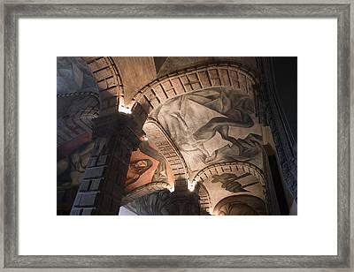 Painted Vaults Framed Print by Lynn Palmer